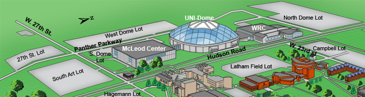 Parking Map for the McLeod Center