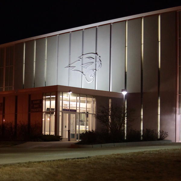McLeod Center at night