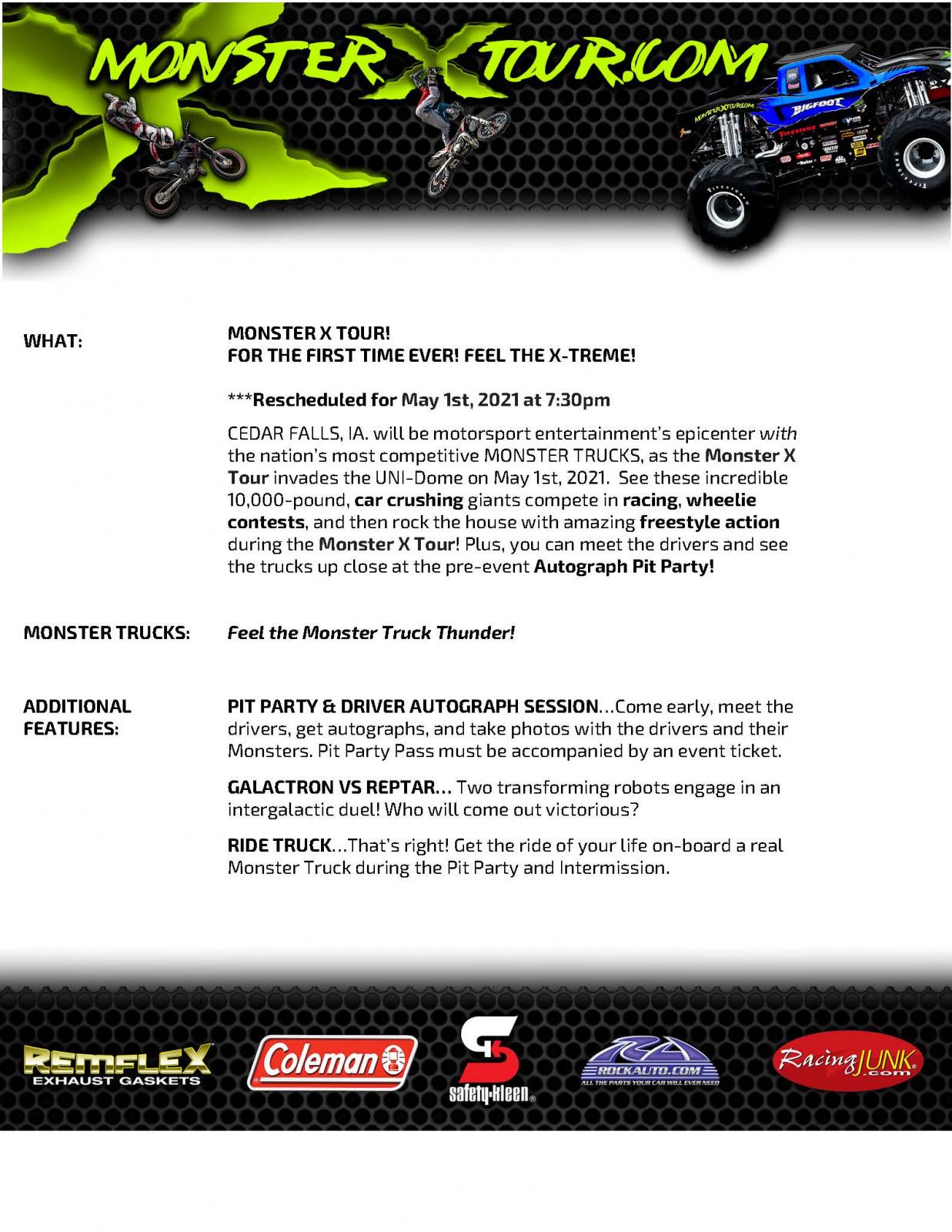 Monster X Info